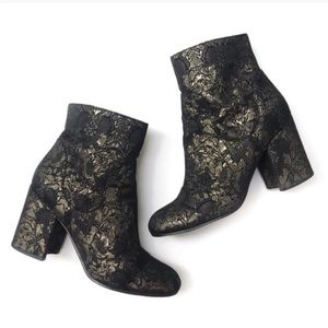Marc fisher Jana gold booties